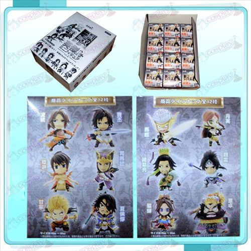 Genuine 12 Dynasty Warriors boneca