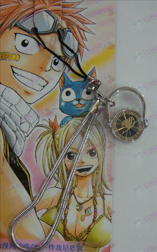 Black Steel Anel Strap Fairy Tail Acessórios ouro