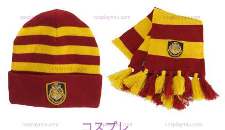 Hat Knit Harry Potter Hogwarts e definir Cachecol