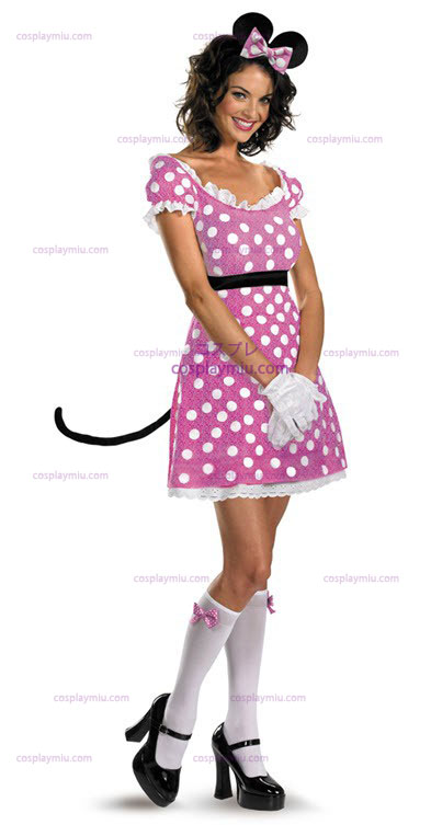 Disney Clubhouse Rosa Minnie traje adulto Rato