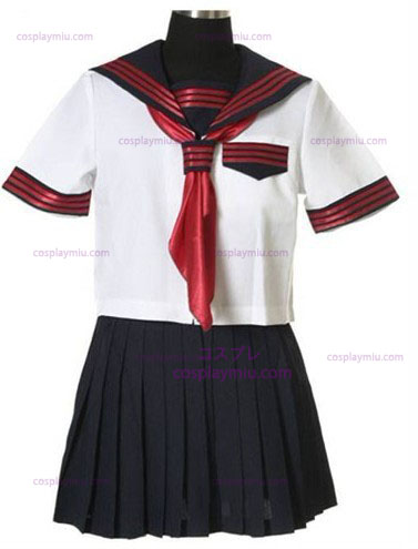 Mangas curtas Sailor Escola Cosplay Uniforme