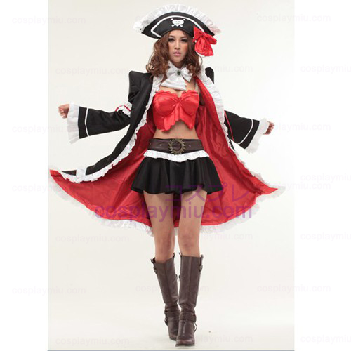 Red Lily Anna Cosplay Anime Halloween pirata Maid Trajes