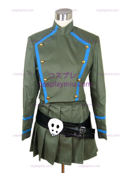 Crânio Hitman REBORN Chrome tutor uniforme traje