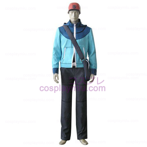 Traje Pokemon Trainer Homens Pretos Touya Cosplay
