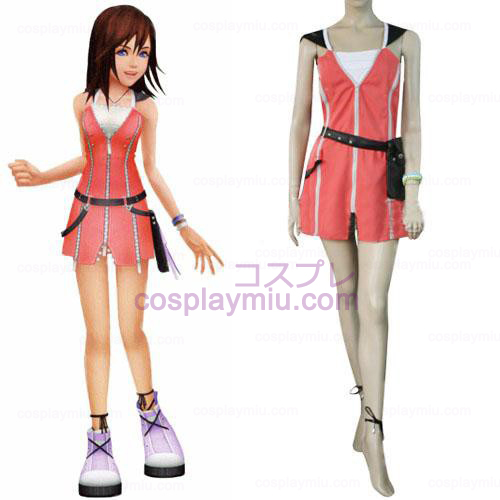 Kingdom Hearts 2 Kairi rosa Cosplay Vestido