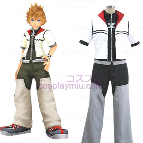 Kingdom Hearts traje 2 Homens de Roxas Cosplay