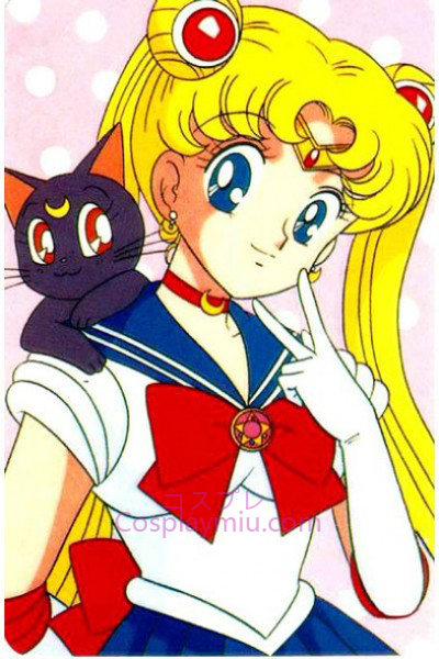 Clássico Sailor Moon Tsukino Usagi Cosplay Peruca
